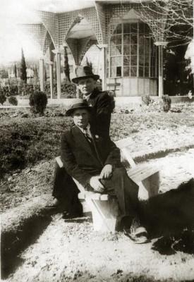 Янка Купала и Якуб Колас. Цхалтубо, 1939 год