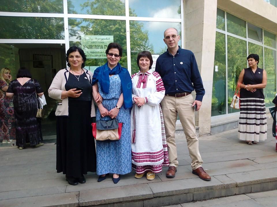 Слева направо: Ия Кухалашвили, Лела Курашвили, Элина Свиридович, Гиви Курашвили